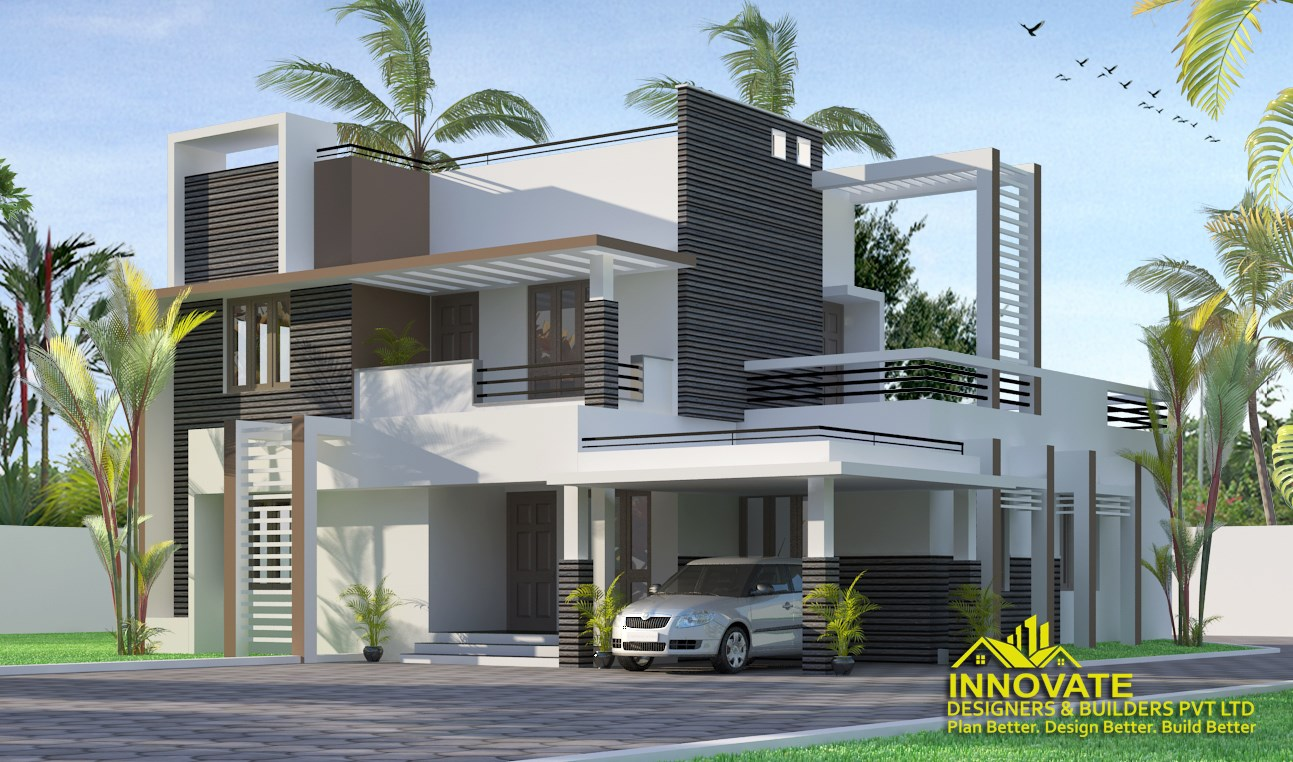 1953 Square Feet 4 Bedroom Contemporary Style Two Floor Home and Plan