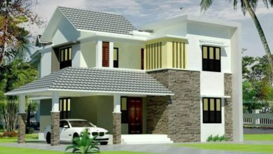 Photo of 1990 Square Feet 4 Bedroom Fusion Style Modern House and Plan