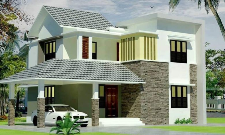 1990 Square Feet 4 Bedroom Fusion Style Modern House and Plan