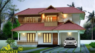 Photo of 2090 Square Feet 3 Bedroom Traditional Style House and Plan