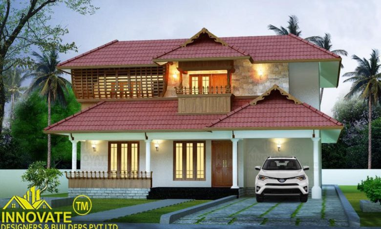 2090 Square Feet 3 Bedroom Traditional Style House and Plan
