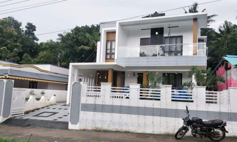 2231 Square Feet 4 BHK Modern Double Floor House and Interior