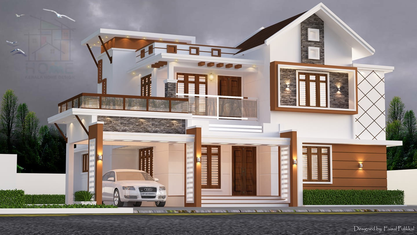 2300 Square Feet 4 Bedroom Contemporary Style Double Floor Modern Home