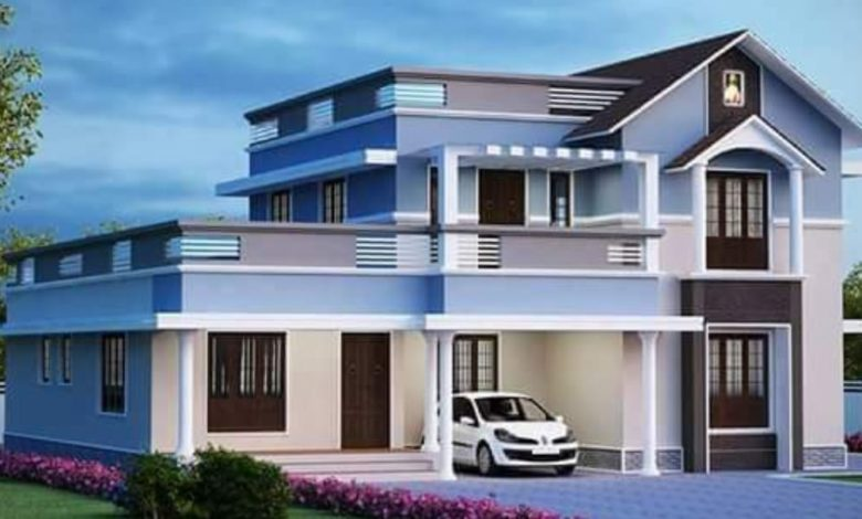 2400 Square Feet 4 Bedroom Modern Double Floor Home and Plan
