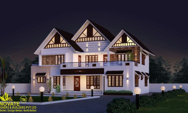 2550 Square Feet 4 Bedroom Colonial Style Two Floor House and Plan