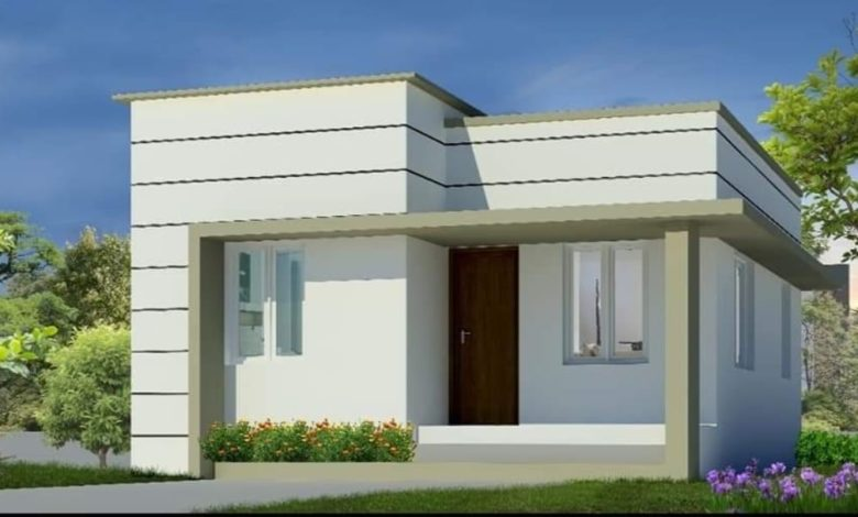 661 Square Feet 2 Bedroom Single Floor Low Budget House and Plan