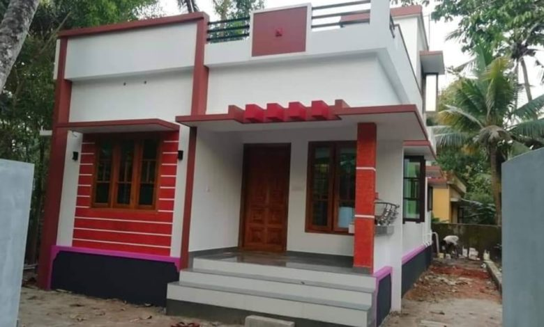 700 Square Feet 2 Bedroom Single Floor Modern House and Plan
