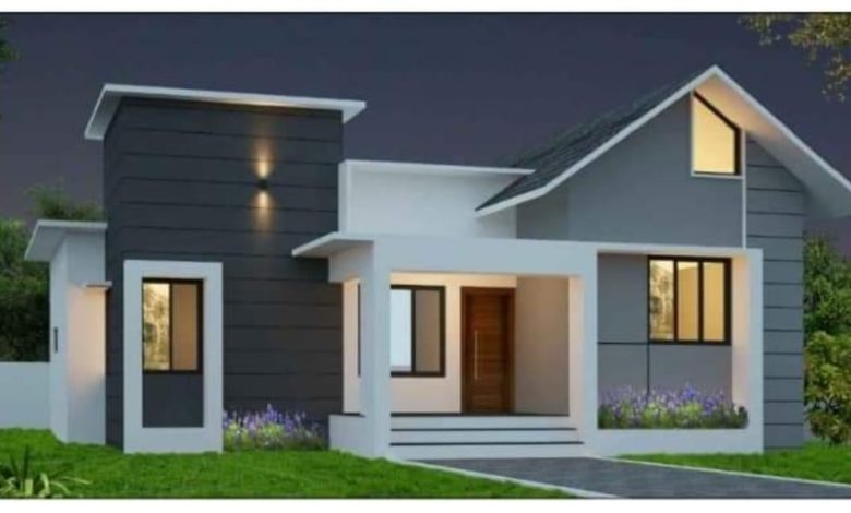 715 Square Feet 2 Bedroom Single Floor Low Budget House and Free Plan