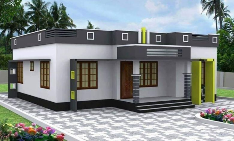 800 Square Feet 2 Bedroom Single Floor Modern House And Plan