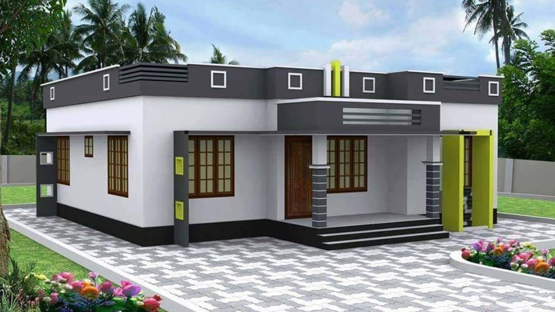 800 Square Feet 2 Bedroom Single Floor Modern House and ...
