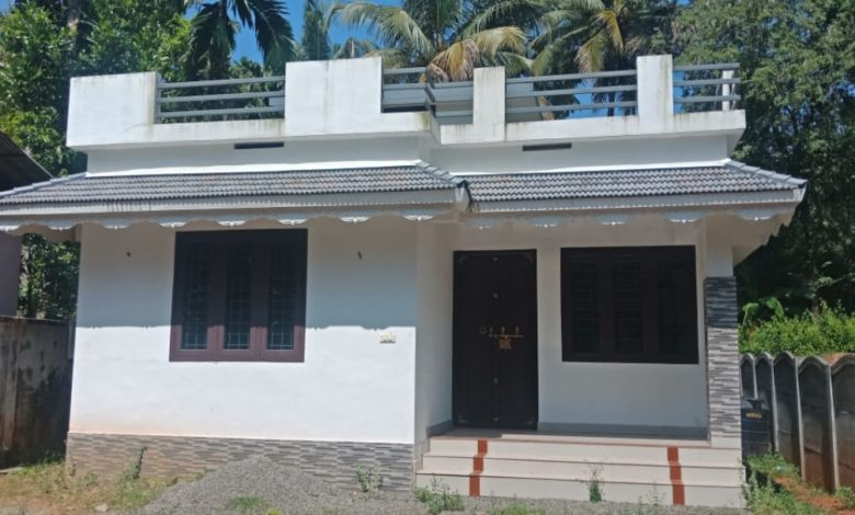 821 Square Feet 2 Bedroom Single Floor Simple House For 10 Lacks