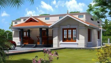 Photo of 885 Square Feet 2 Bedroom Traditional Style Single Floor House and Plan