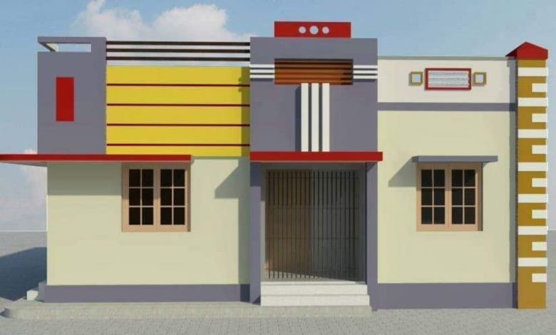 900 Square Feet 2 Bedroom Single Floor Modern Home and Plan