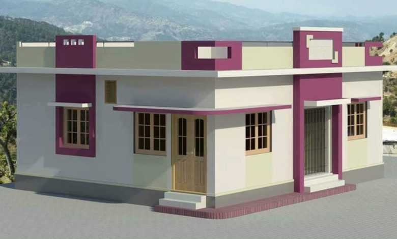 915 Sq Ft 2 BHK Modern Single Floor Beautiful Home and Plan