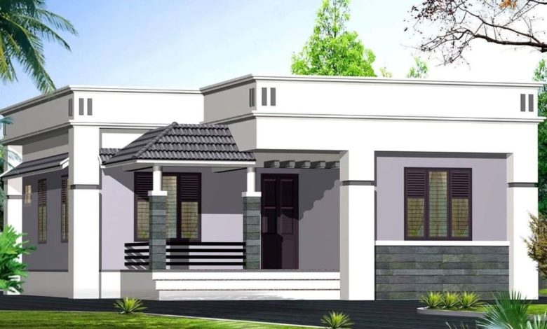 937 Square Feet 2 Bedroom Simple and Beautiful House and Plan