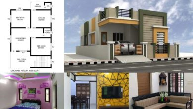 Photo of 955 Square Feet 2 BHK Contemporary Style House and Plan