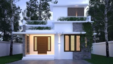 Photo of 970 Square Feet 2 Bedroom Single Floor Modern House and Plan