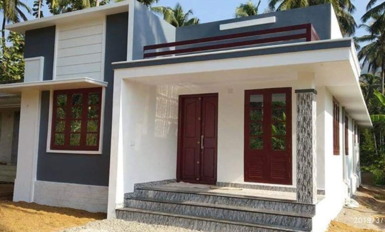1000 Square Feet 2 Attached Bedroom Single Floor Beautiful House at 4 Cent Land
