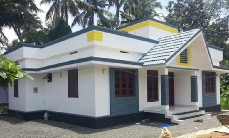 1000 Square Feet 3 Bedroom Single Floor Low Budget House and Plan