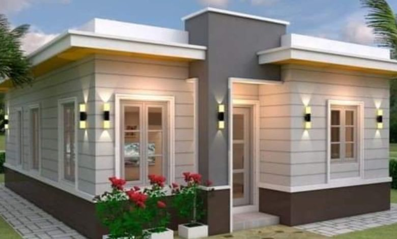 1022 Square Feet 3 Bedroom Modern Single Floor Home and Plan