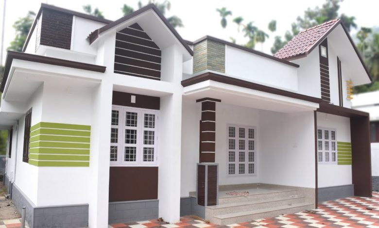 1026 Square Feet 3 Bedroom Single Floor Modern House and Plan