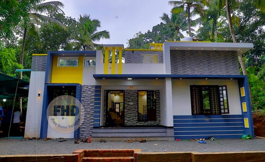 1050 Square Feet 3 Bedroom Single Floor Modern House and Plan