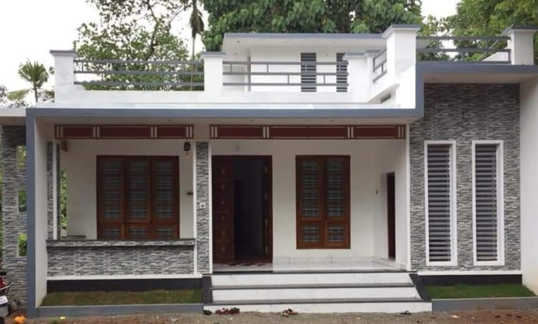 1086 Square Feet 2 Bedroom Single Floor Modern House and Free Plan