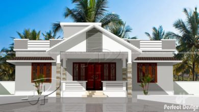 Photo of 1182 Square Feet 3 Bedroom Traditional Style Single Floor House and Plan