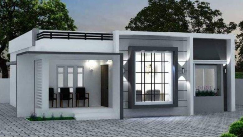 1190 Square Feet 3 Bedroom Modern Single Floor Home and Plan