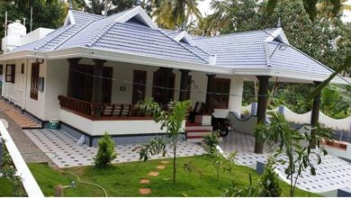 Photo of 1290 Square Feet 3 Bedroom Traditional Style Single Floor House and Plan