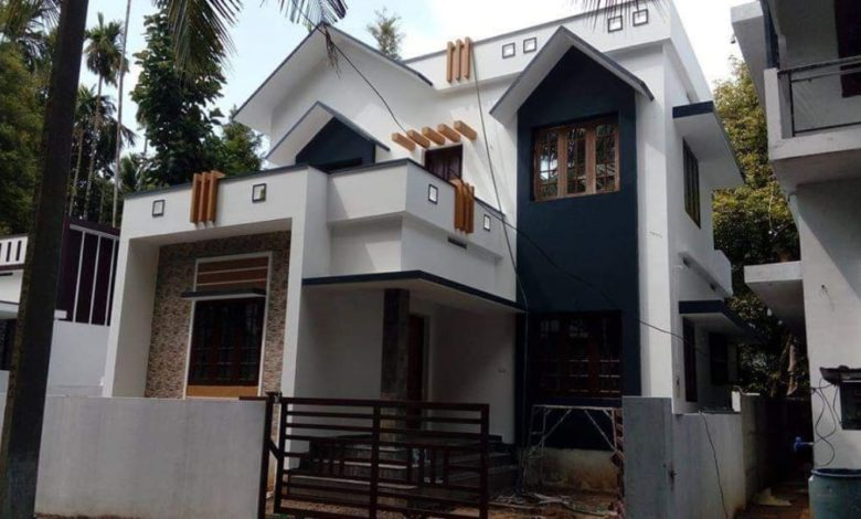 1300 Square Feet 3 Attached Bedroom Two Floor House at 3 Cent Plot