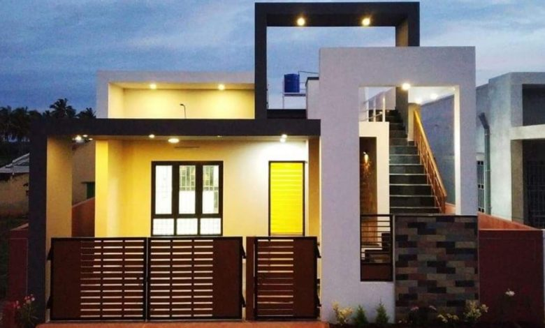 1303 Square Feet 2 BHK Contemporary Style Modern Home and Plan