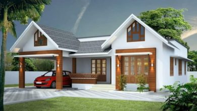 Photo of 1350 Square Feet 3 Bedroom Single Floor Kerala Style House and Plan