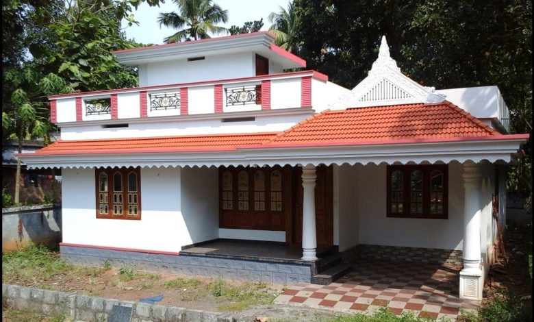 1350 Square Feet 3 Bedroom Traditional Style Beautiful House and Plan
