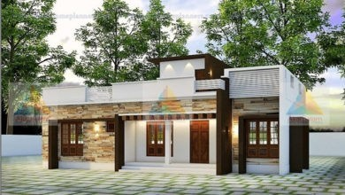 Photo of 1366 Square Feet 2 Bedroom Contemporary Style Modern House and Plan
