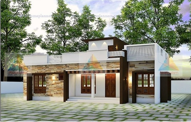 1366 Square Feet 2 Bedroom Contemporary Style Modern House and Plan