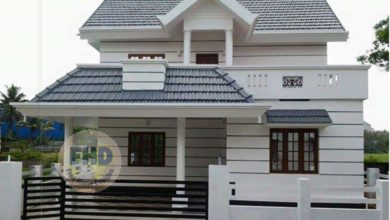 Photo of 1558 Square Feet 4 Bedroom Traditional Style Two Floor House and Plan