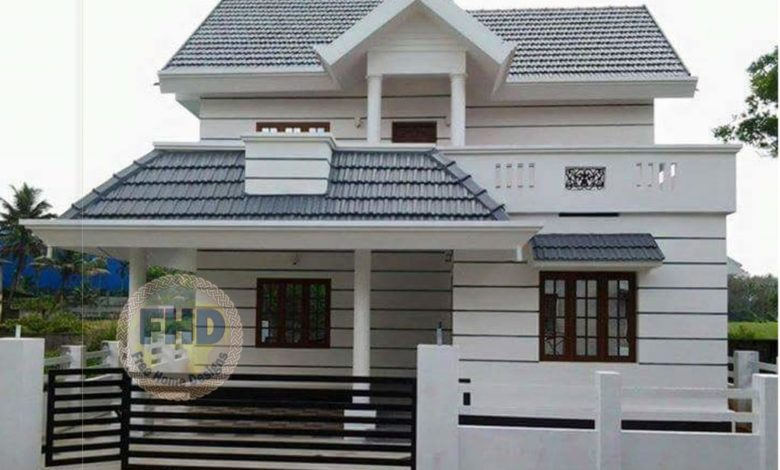 1558 Square Feet 4 Bedroom Traditional Style Two Floor House and Plan