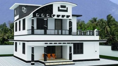 Photo of 1672 Square Feet 4 Bedroom Contemporary Style Modern Two Floor Home and Plan