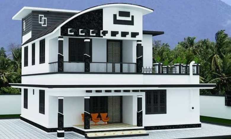 1672 Square Feet 4 Bedroom Contemporary Style Modern Two Floor Home and Plan