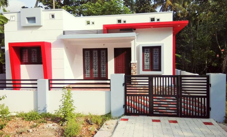 2 Attached Bathroom Modern Single Floor House at 3 Cent Plot