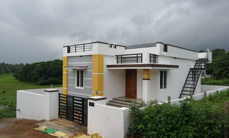 2 Bedroom Modern Beautiful Single Floor House at 4 Cent Land