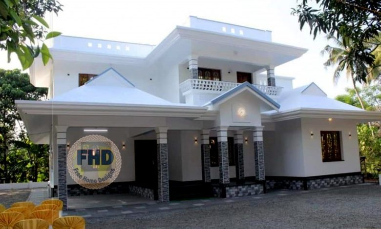 2430 Square Feet 4 Bedroom Traditional Style Double Floor House and Plan