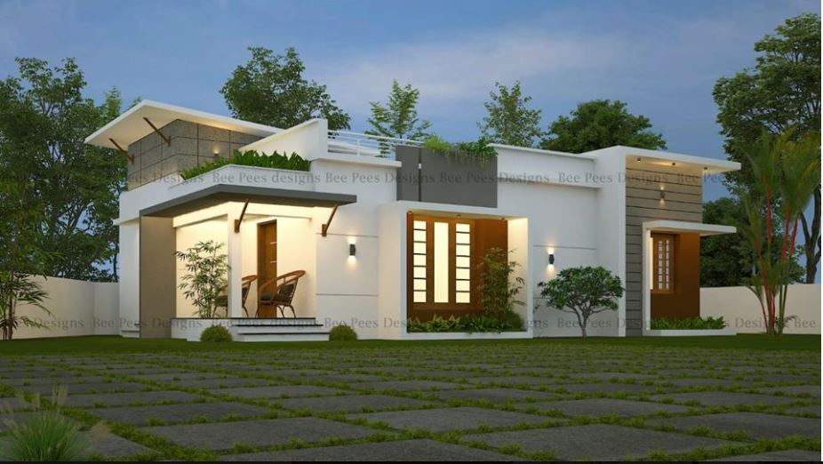 500 Square Feet 2 Bedroom Single Floor Modern Low Budget House and Plan