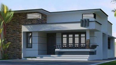 Photo of 612 Square Feet 2 Bedroom Single Floor Modern House and Plan