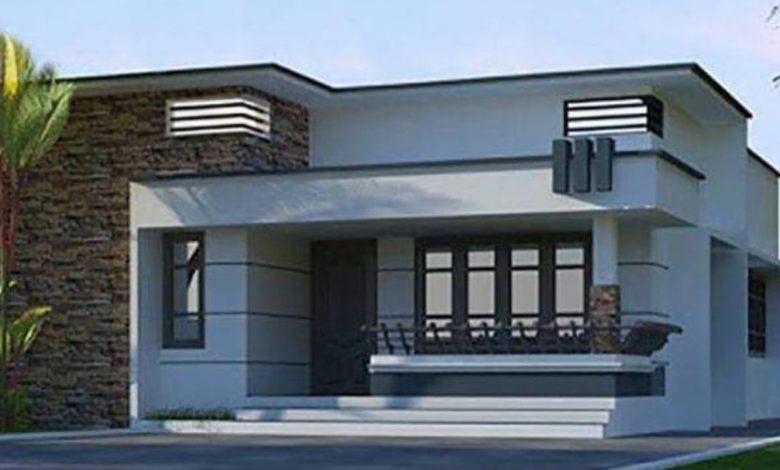 612 Square Feet 2 Bedroom Single Floor Modern House and Plan