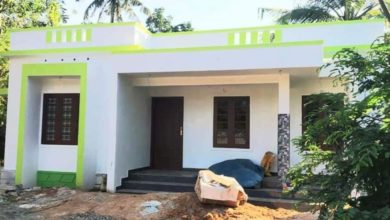 Photo of 906 Square Feet 2 Bedroom Kerala Style Simple House, Cost 11.32 Lacks