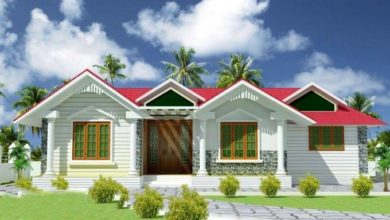 Photo of 1070 Square Feet 3 Bedroom Traditional Style Single Floor House and Plan
