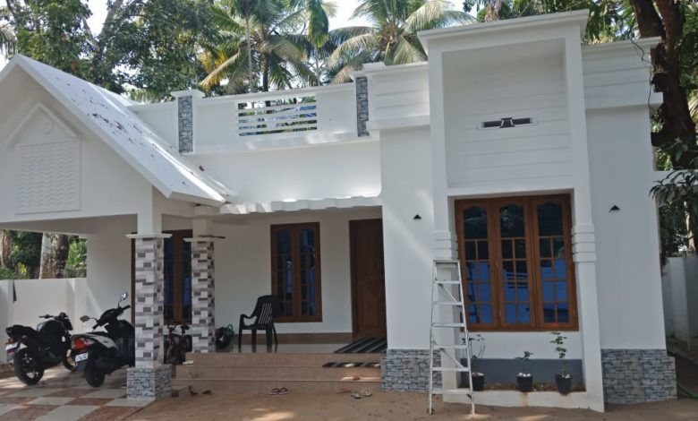 1100 Square Feet 3 Bedroom Single Floor Modern House and Plan