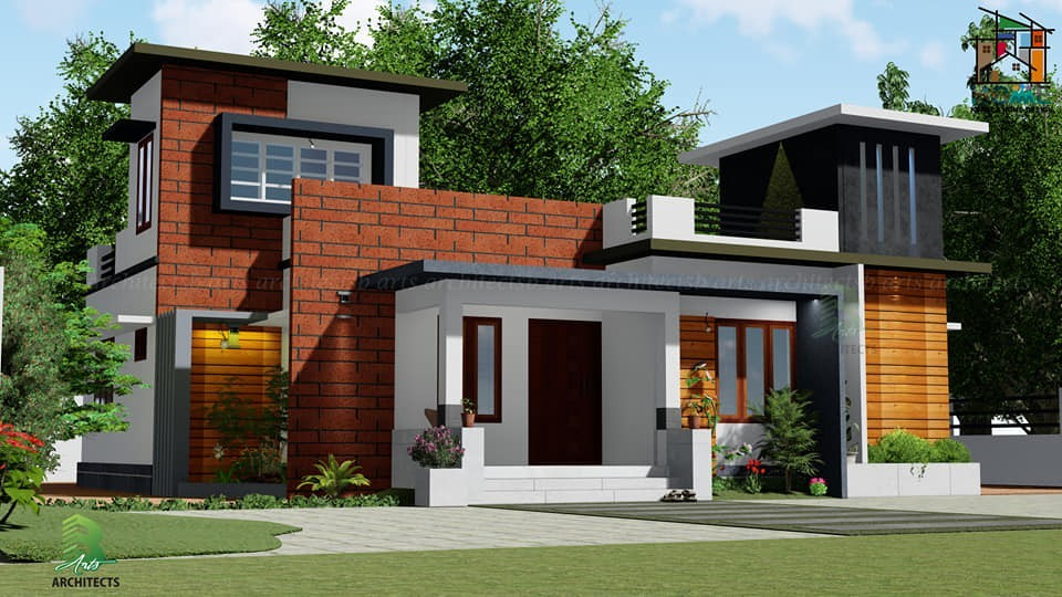 1132 Square Feet 3 Bedroom Single Floor Modern House Design
